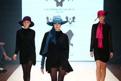 DUESSELDORF, GERMANY - JANUARY 30:  Models walk the runway at the Laurence Leleux show as part of Fashion Net Presents Duesseldorf Designers during Platform Fashion January 2016 at Areal Boehler on January 30, 2016 in Duesseldorf, Germany.  (Photo by Andreas Rentz/Getty Images for Platform Fashion)